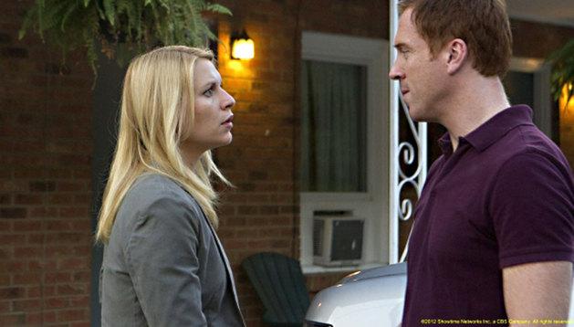 El sargento Brody y la agente Carrie Mathison, de la serie