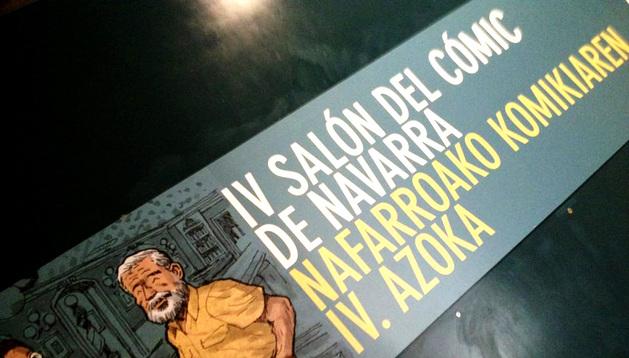 Cartel del IV Salón del Cómic de Navarra.