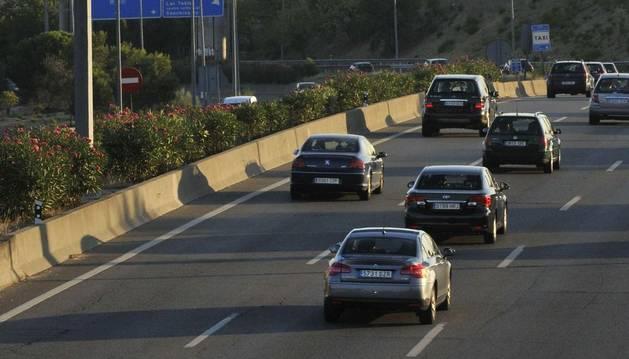 Estado de la circulación en la A-1 , Carretera de Burgos, dirección Madrid.