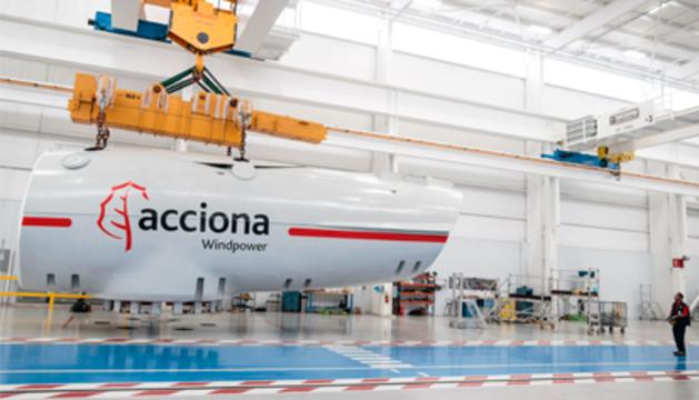 Aerogenerador de Acciona.