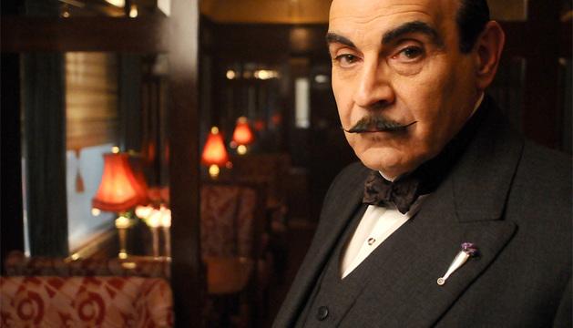 Hercule Poirot, en su encarnación televisiva.