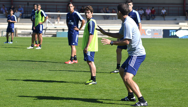 Javi Gracia se estrenó este jueves 5 de septiembre como entrenador de Osasuna en Tajonar