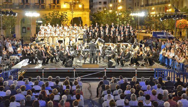 Concierto del Orfeón Pamplonés y La Pamplonesa en 2011.