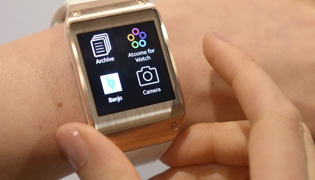 El primer reloj inteligente del mercado, el Galaxy Gear.