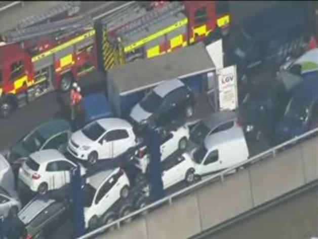 Decenas de heridos por un choque de 130 vehículos en el Reino Unido