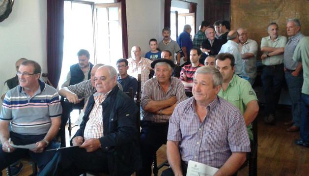 La subasta de palomeras se celebró este sábado, en apenas veinte minutos, en el Ayuntamiento de Etxalar.