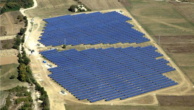 Un parque fotovoltaico.