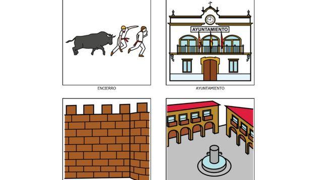 Algunos de los pictogramas que señalizarán distintos lugares de Navarra.