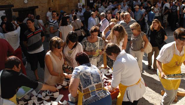 Día de las Migas de Ujué en 2012.