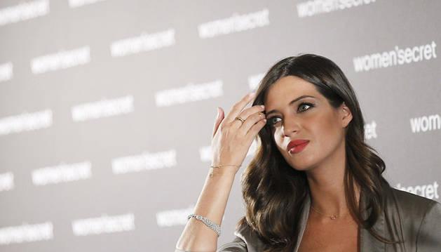 La periodista Sara Carbonero, durante su presentación como embajadora del 20ª aniversario de la marca de lencería Women's secret.