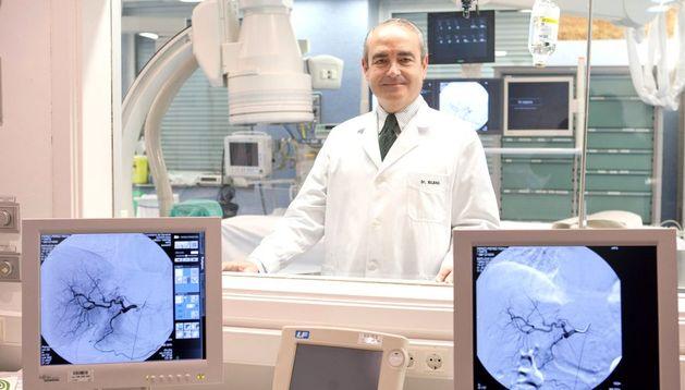 El doctor José Ignacio Bilbao, medalla de oro de la Sociedad Europea de Radiología Cardiovascular e Intervencionista.