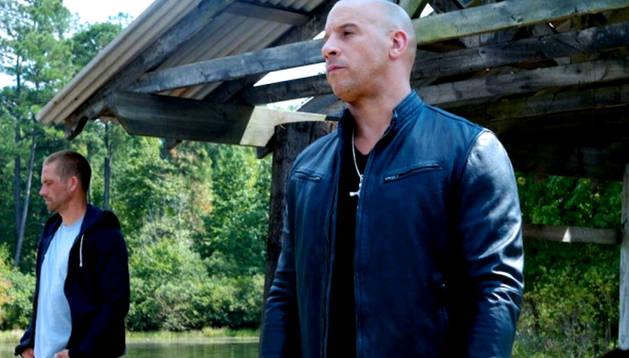 Vin Diesel en el rodaje de la película
