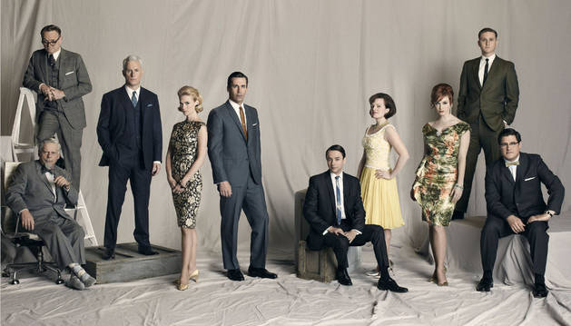 Los protagonistas de Mad Men.