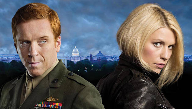 Damian Lewis y Claire Danes, protagonistas de 'Homeland'.