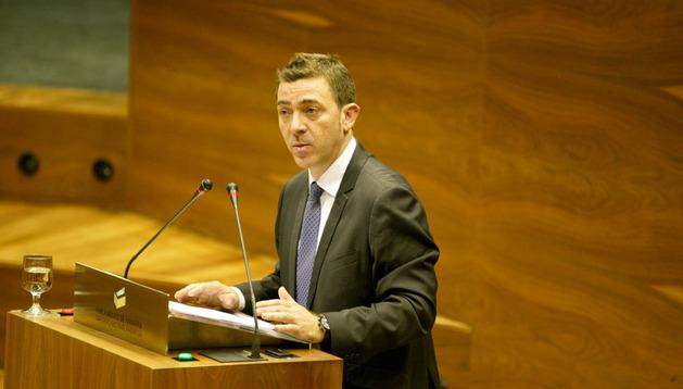 Roberto Jiménez este jueves en el Parlamento de Navarra