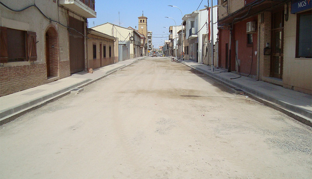 Imagen del tramo objeto de las actuaciones en la travesía de Ribaforada.