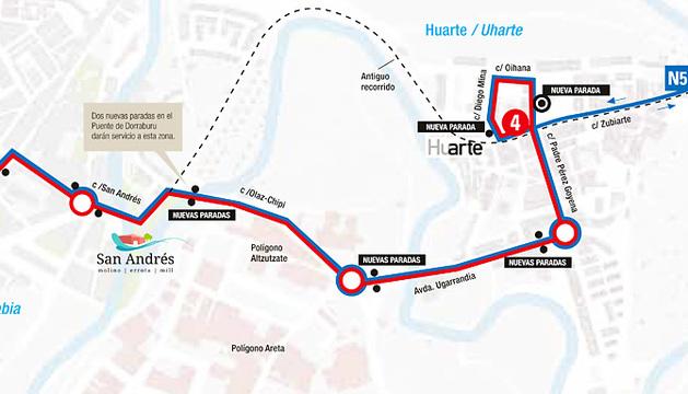 Cambios en el recorrido de la línea 4H.