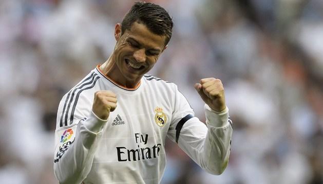 Cristiano celebra uno de sus goles.