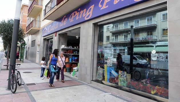 Uno de los establecimientos sancionados, en el barrio pamplonés de la Rochapea