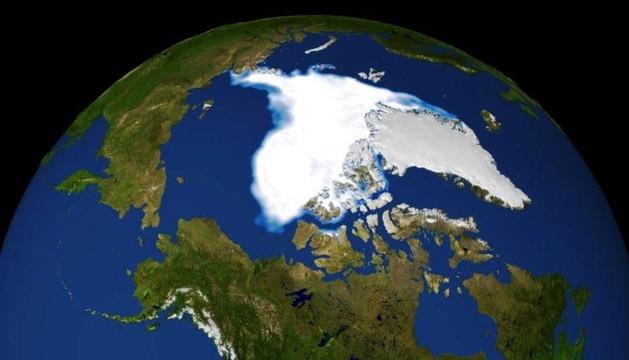 Imagen de 2007 del deshielo en el Artico.