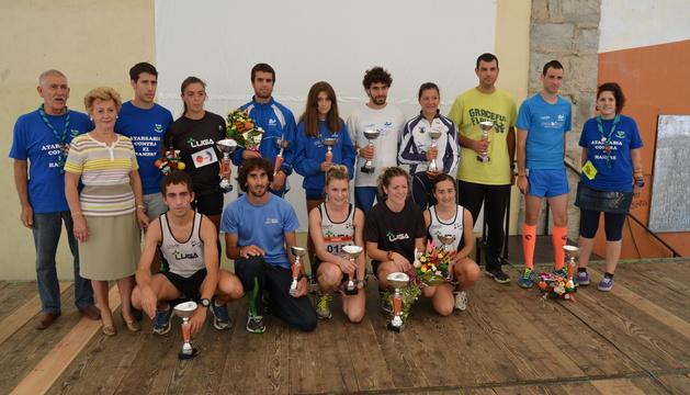 Foto de los ganadores en las diferentes categorías