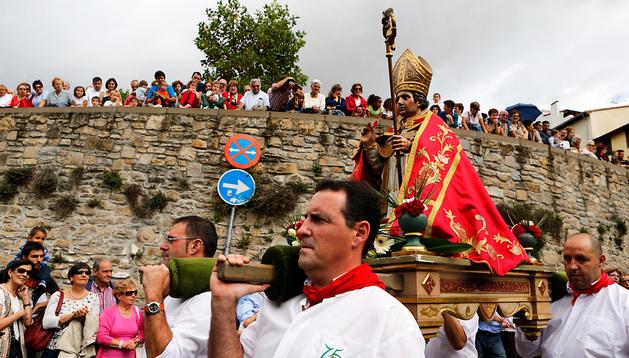Procesión de San Fermín de Aldapa.