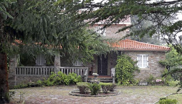 Vista de la vivienda familiar del municipio coruñés de Teo, cerca de Santiago, de Asunta Basterra.