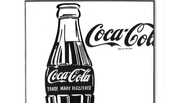 Cuadro de Andy Warhol con una Coca-Cola como motivo