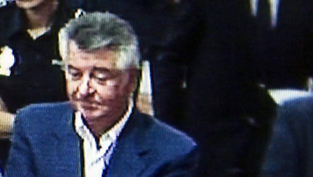 Imagen captada de un monitor en la sala de prensa de la Audiencia.
