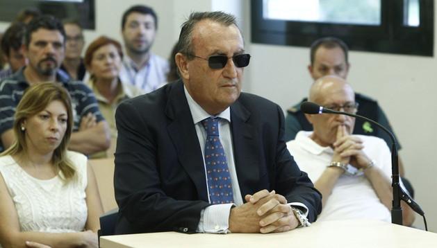 El expresidente de la Diputación de Castellón, Carlos Fabra, durante su declaración como imputado.