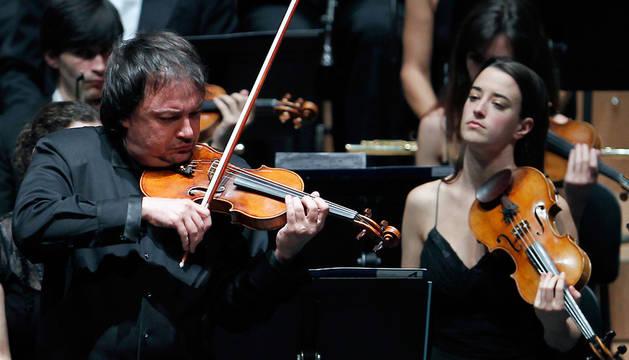 El violinista de la OS de Euskadi Sergej Krylov, en un concierto anterior.
