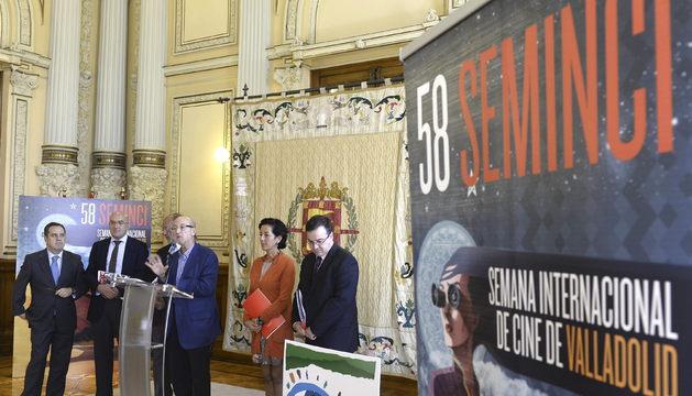 El director de la SEMINCI, Javier Angulo, durante la presentación esta mañana de la Semana Internacional de Cine de Valladolid