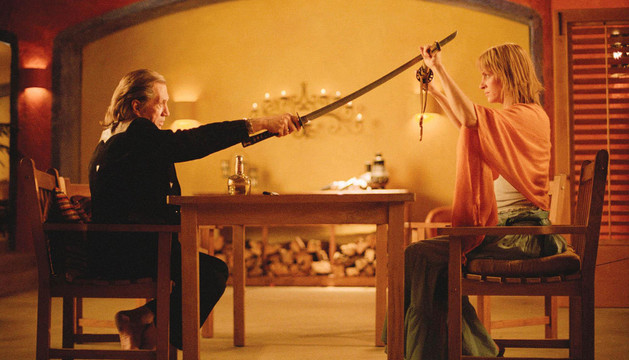 Escena de la película con la protagonista Uma Thurman