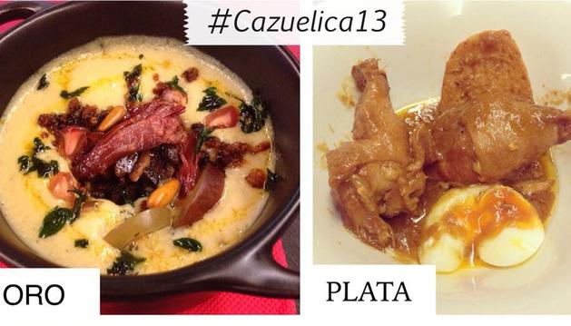 Imagen suministrada por la Asociación de Hostelería de Navarra con las cazuelicas ganadoras.