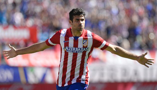 Diego Costa, con la camiseta atlética.