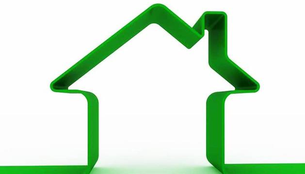 Logotipo de casa de mercado inmobiliario