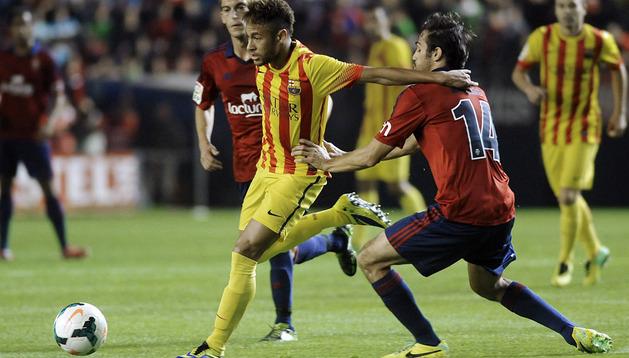 Neymar, en el partido de ida frente a Osasuna