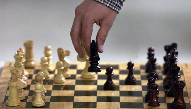 Un tablero de ajedrez.