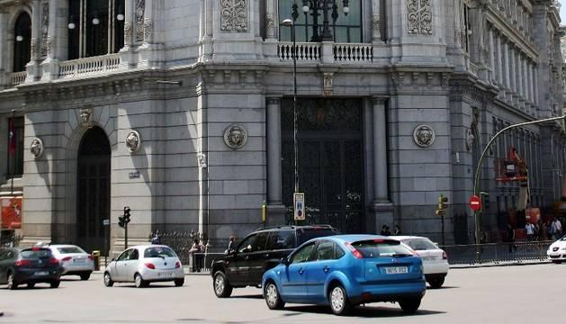 Exterior de la sede madrileña del Banco de España.