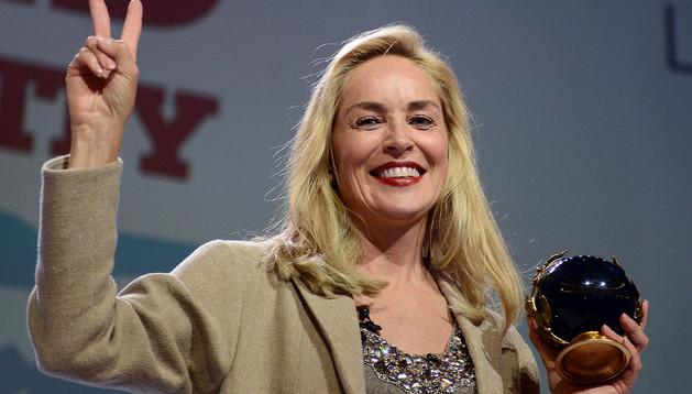 Sharon Stone, galardonada con el