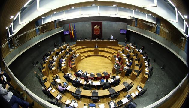 Vista general desde arriba del Parlamento de Navarra