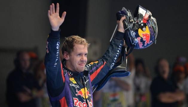 Vettel celebra su título mundial