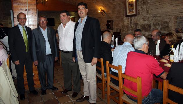 De izquierda a derecha: Alberto Catalán, Enrique Castel-Ruiz, José Aguado y Luis Casado