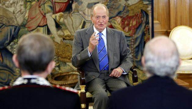 El Rey recibió a la Asociación de Fuerzas de Gendarmería Euromediterráneas.