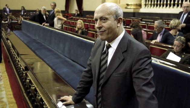 José Ignacio Wert, este martes en el Senado.