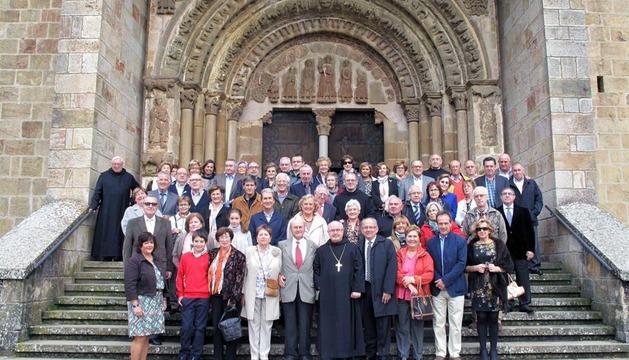 Asistentes a la asamblea de los Amigos de Leyre, el pasado 20 de octubre