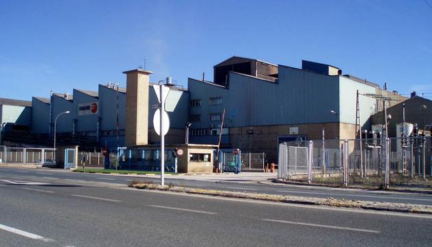 Entrada a la fábrica de Fagor Ederlan a la entrada de Tafalla