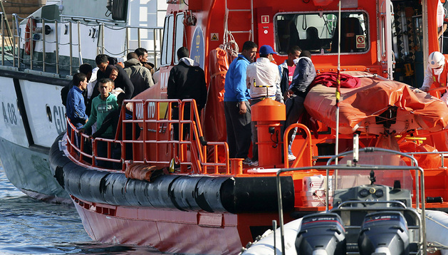 Rescate de inmigrantes en Almería el pasado 27 de octubre