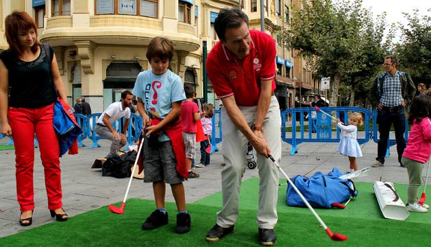 Presentación del torneo, el pasado 5 de octubre, en la avenida Carlos III de Pamplona