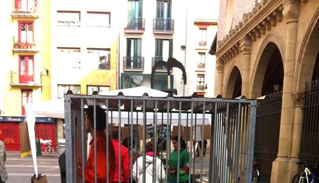 Protesta de Greenpeace en Pamplona